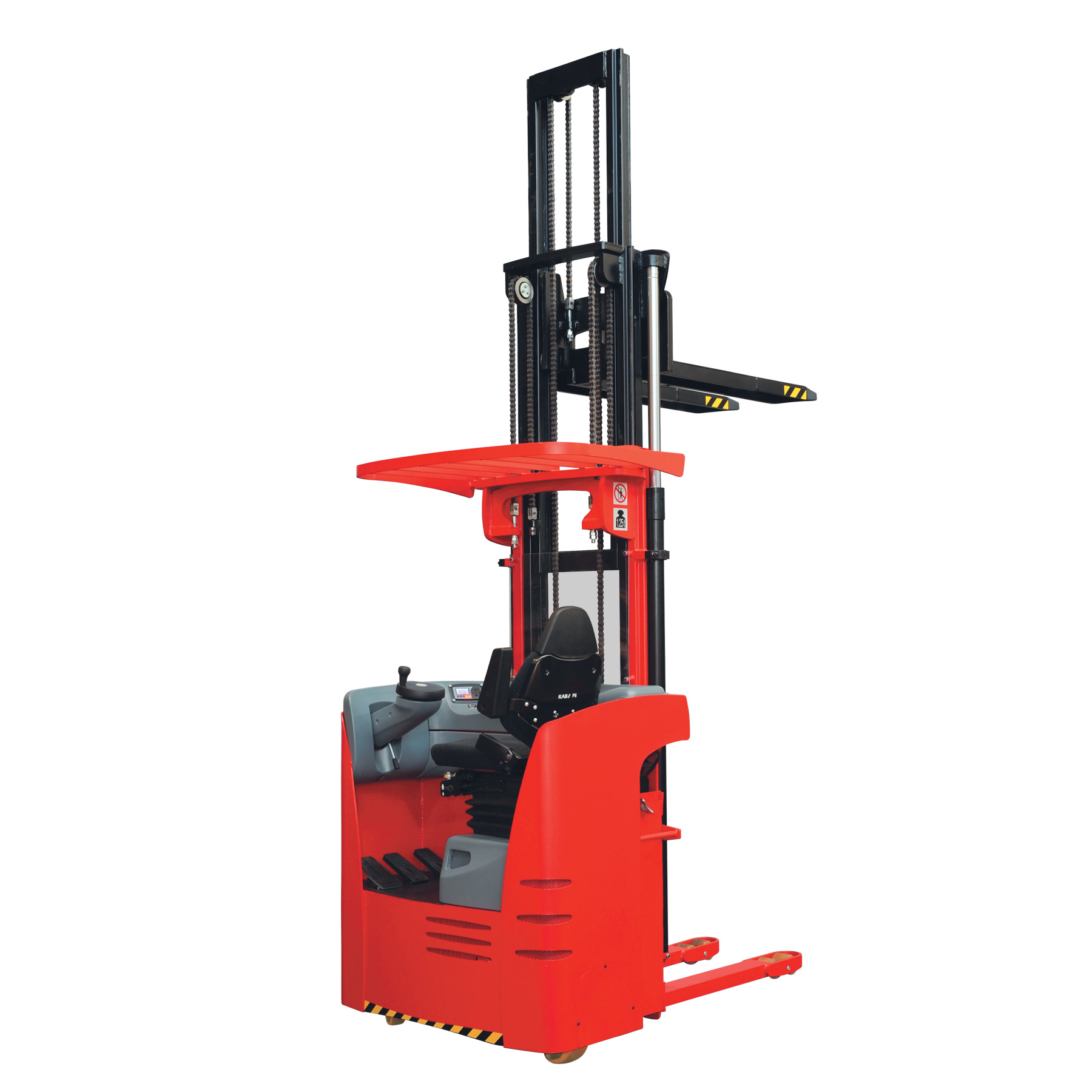 Electric Sit-on Pallet Stacker with support arms KM.RPS